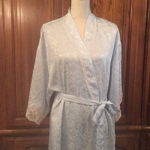 Vintage Ice Blue Christian Dior Long Robe